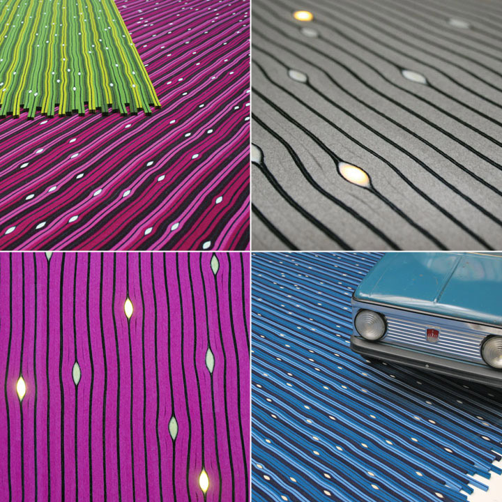 cell led carpet 05 Cell LED Carpet by Lama Concept
