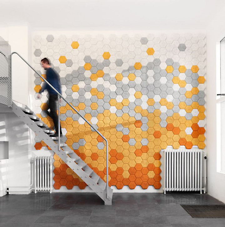 eco friendly wall panel disc retail design blog