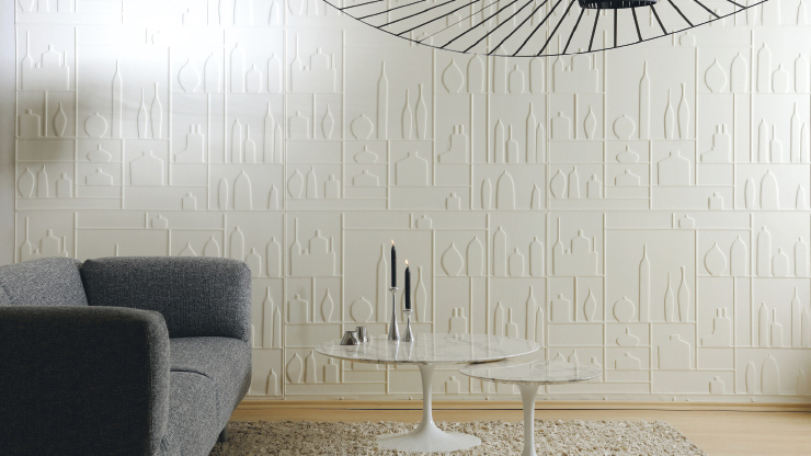 3D Effect Wall Design By Élitis » Retail Design Blog