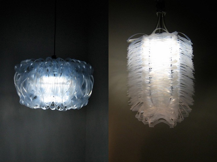 Lotus recycled plastic lamp Lotus recycled plastic lamps by Bao Khang Luu