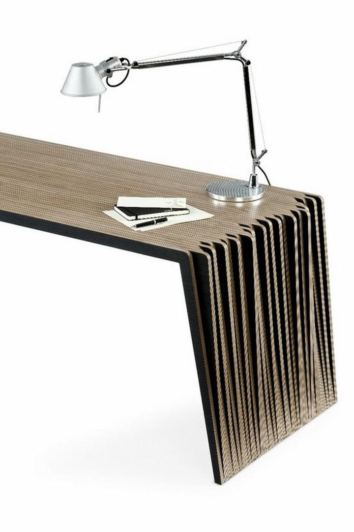 bàn gỗ nhảy lộn thanh lịch