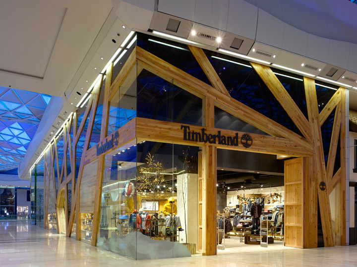 Timberland retail design blog for Retail store exterior design