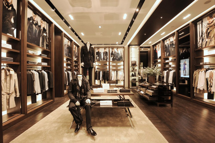 Burberry retail design blog for High end furniture stores nyc