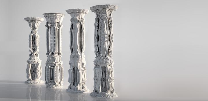 Cardboard Pillars And Columns : Cardboard columns by michael hansmeyer retail design