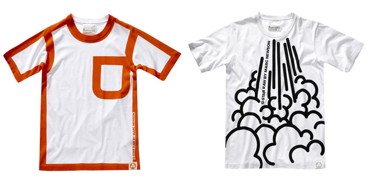 8dea5d0822 Australian designer Marc Newson has created a range of clothing featuring  bold graphics for clothing brand G-Star RAW. The collection includes ...