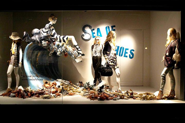 ... Renfrew Window Displays featuring Sea of Shoes visual merchandising