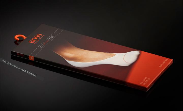 Hugo Boss socks packaging by Sabotage PKG