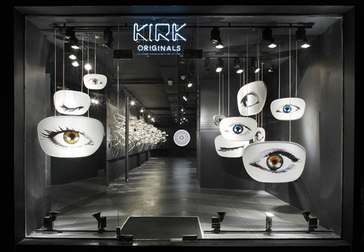 Kirk originals eyewear london flagship retail design blog for Retail design companies london