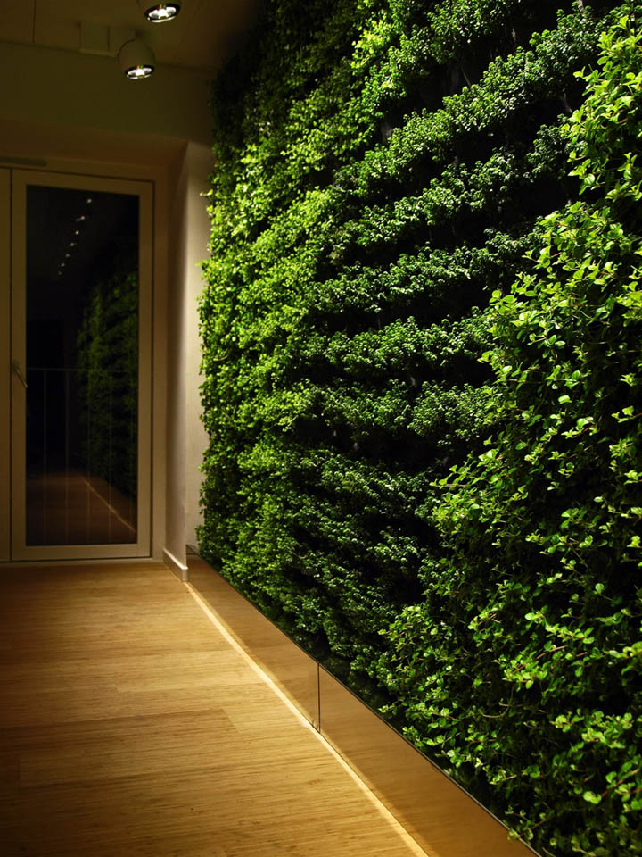 Plant wall by greenworks retail design blog Green walls vertical planting systems