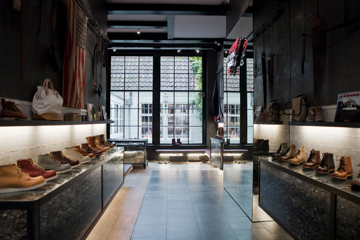 Red Wing Shoes Store Amsterdam » Retail Design Blog