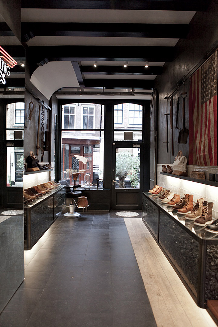 Red Wing Shoes Store Amsterdam 187 Retail Design Blog