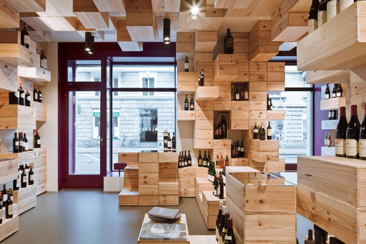 The albert reichmuth wine store by oos zurich retail for Interior decoration zurich