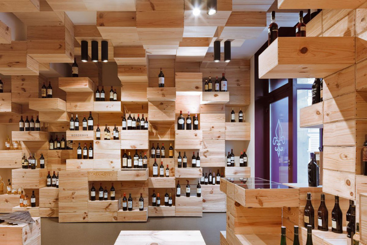 The albert reichmuth wine store by oos zurich retail for Room design zurich