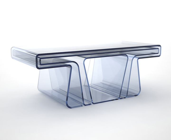 Treforma Nesting Tables By Jason Phillips Retail Design Blog - Clear nesting tables
