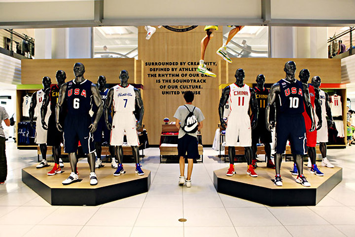 World Basketball Festival Display at NikeTown 04 World Basketball Festival Display at NikeTown, New York