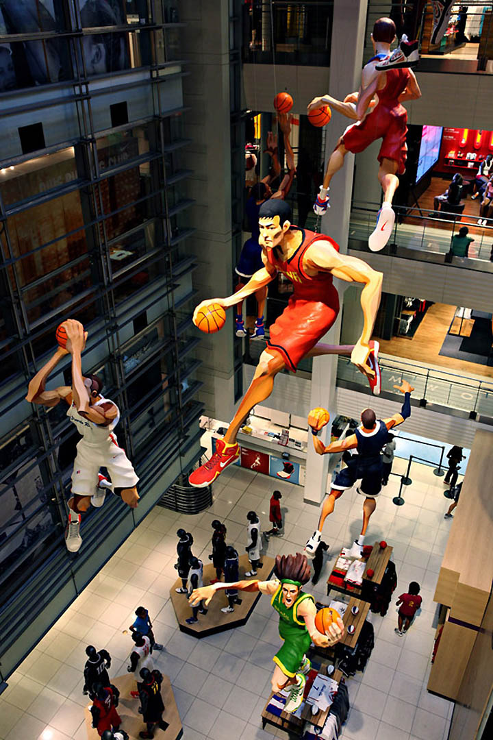 World Basketball Festival Display at NikeTown 08 World Basketball Festival Display at NikeTown, New York