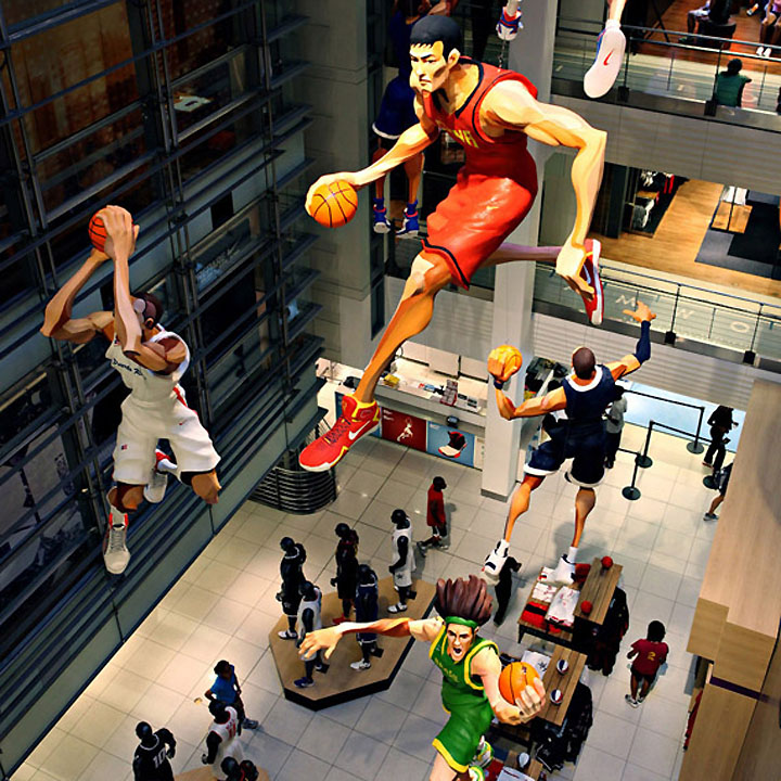 World Basketball Festival Display at NikeTown World Basketball Festival Display at NikeTown, New York