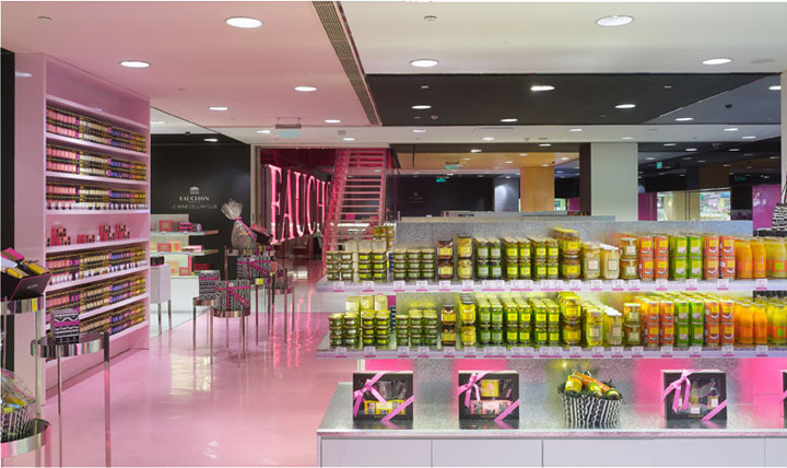 Fauchon food shop by christian biecher paris retail for Showroom cuisine paris