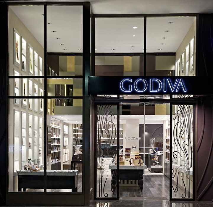 Godiva flagship stores concept design by d ash design for Retail shop exterior design