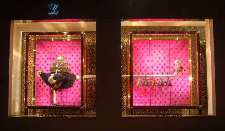 Louis Vuitton Ostrich Windows Bond Street 03 Louis Vuitton   Ostrich Windows, Bond Street New York