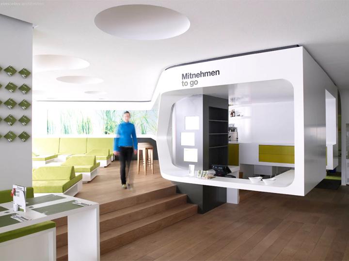 nat fine bio food restaurant interior by eins eins architects retail design blog. Black Bedroom Furniture Sets. Home Design Ideas