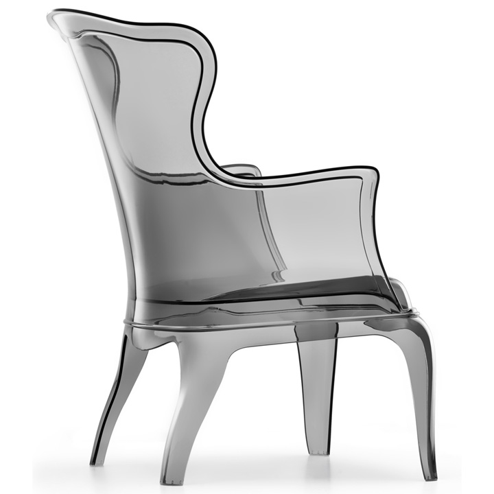 Elegant Pasha Transparent Chair by Marco Pocci and Claudio  : Pasha Transparent Chair by Marco Pocci and Claudio Dondoli 03 from retaildesignblog.net size 720 x 720 jpeg 72kB
