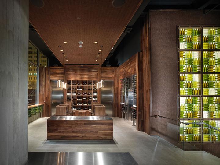 Press club by bcv architects san francisco retail for Modern wine bar design