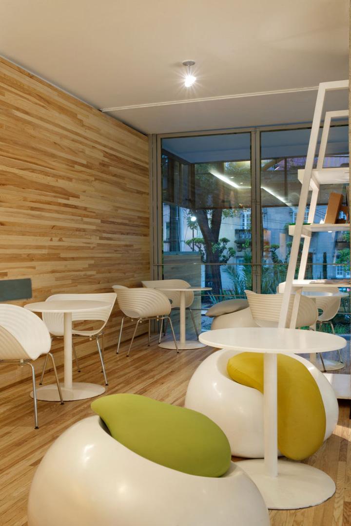 Qi urban lobby wellness centre by manada mexico city for Wellnesshotel design