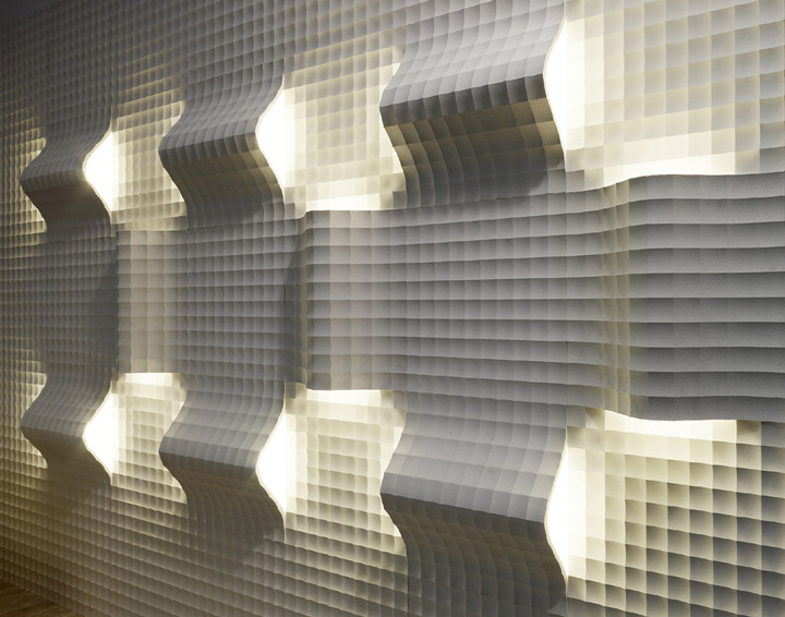 quadro curve luce panels by raffaello galiotto for lithos design - Decorative Wall Panels Design