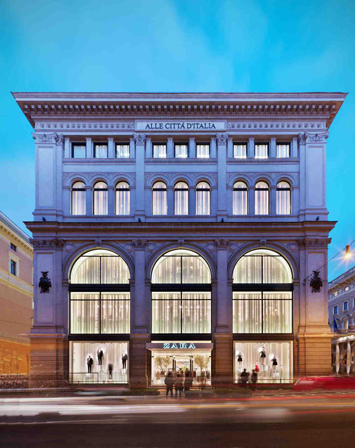 Zara flagship store by duccio grassi architects via del for Store building design