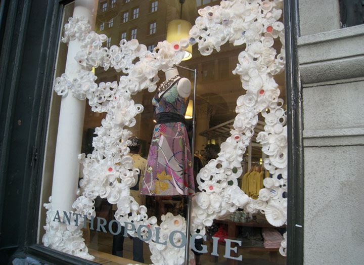 Anthropologie window displays 11 Anthropologie window displays