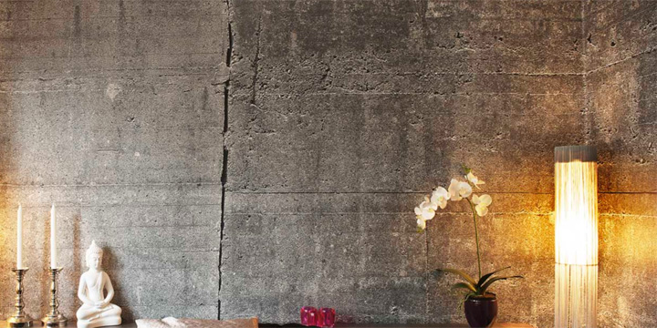 Concrete wall collection wallpapers by tom haga retail for Wallpaper retailers