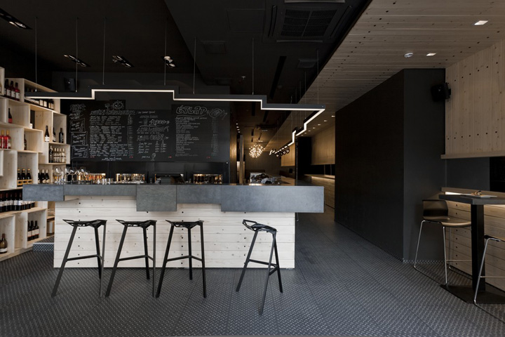divino wine bar by suto interior architects budapest. Black Bedroom Furniture Sets. Home Design Ideas