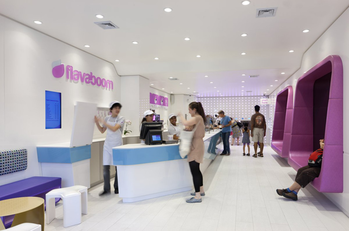 Flavaboom by Dune New York 04 Flavaboom fro yo shop by Dune, New York