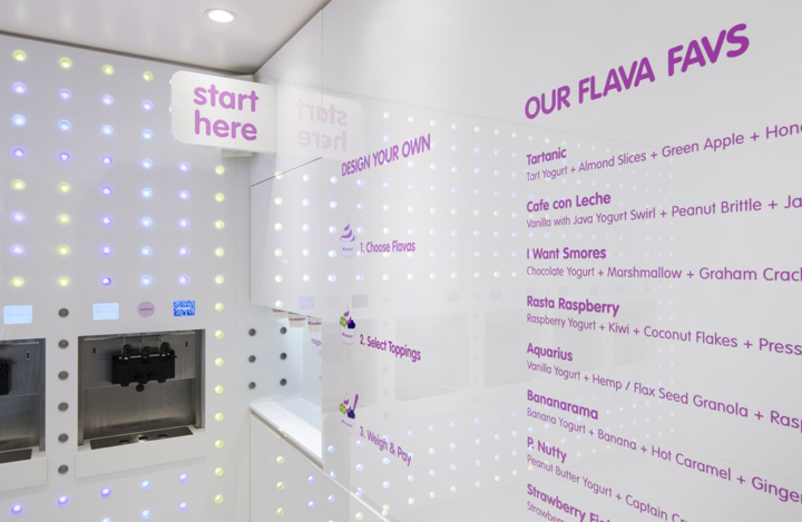 Flavaboom by Dune New York 08 Flavaboom fro yo shop by Dune, New York