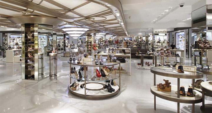 Harrods ladies shoe salon by Shed, London » Retail Design Blog