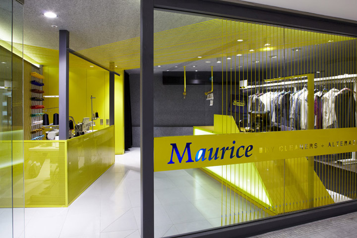 Maurice dry cleaners by snell architects sydney retail for Clean interior design