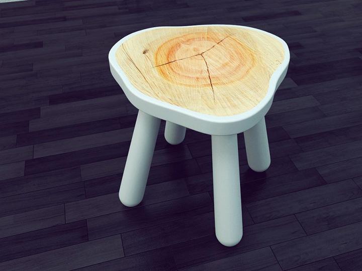 Wooden Stool By Zhukovets Vladislav 187 Retail Design Blog