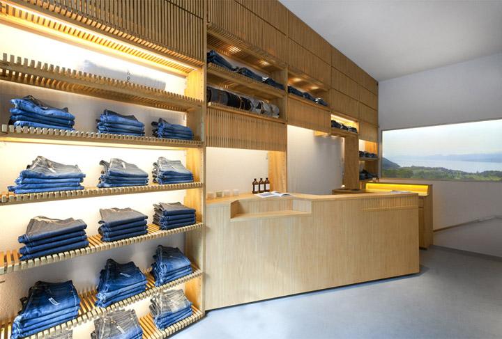 A p c royale boutique by laurent deroo paris retail design blog - Showroom point p paris ...