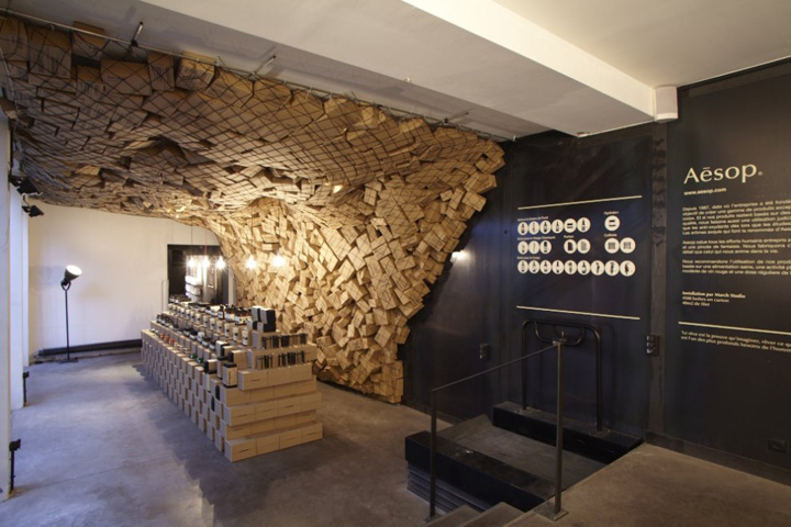 aesop pop up store at merci by march studio paris retail design blog. Black Bedroom Furniture Sets. Home Design Ideas