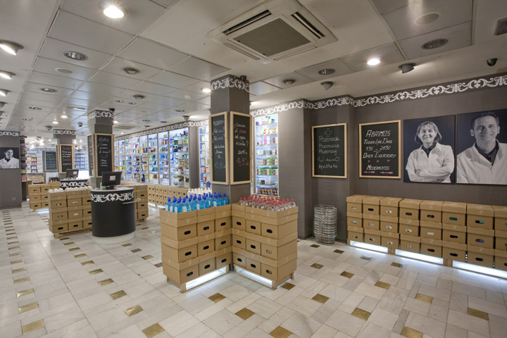 Arenal2 Pharmacy by Marketing-Jazz, Madrid » Retail Design Blog