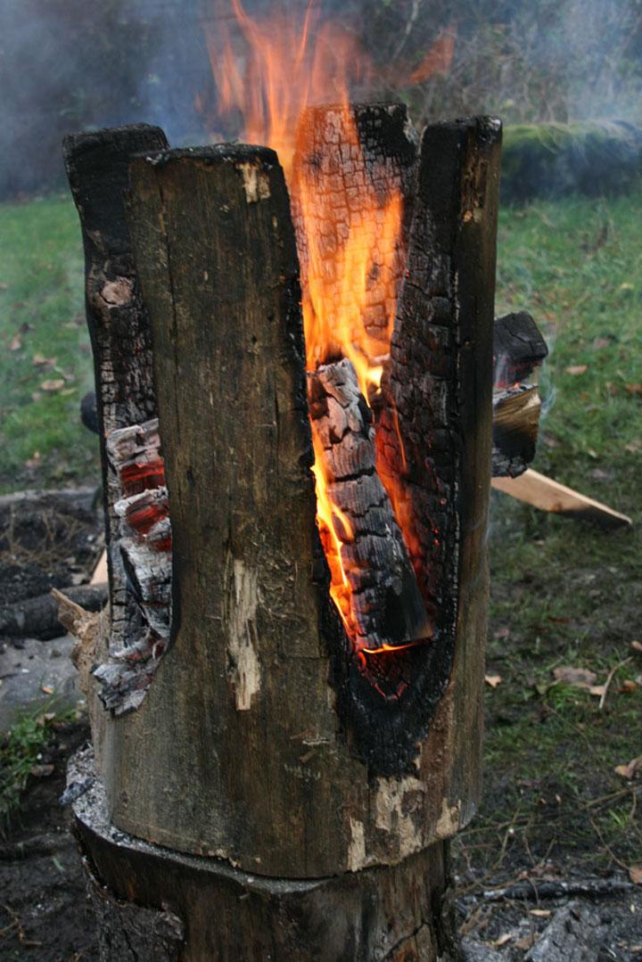 187 Ausgebrannt Stools By Kaspar Hamacher
