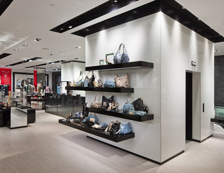 guess flagship store new york 11 retail design blog. Black Bedroom Furniture Sets. Home Design Ideas