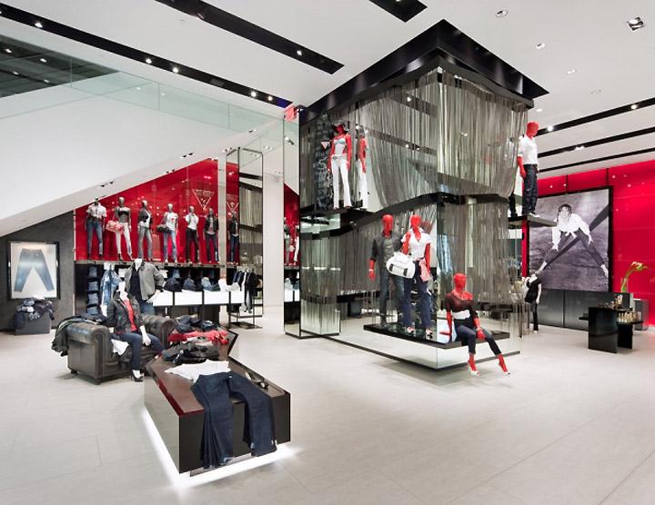 guess flagship store new york retail design blog. Black Bedroom Furniture Sets. Home Design Ideas