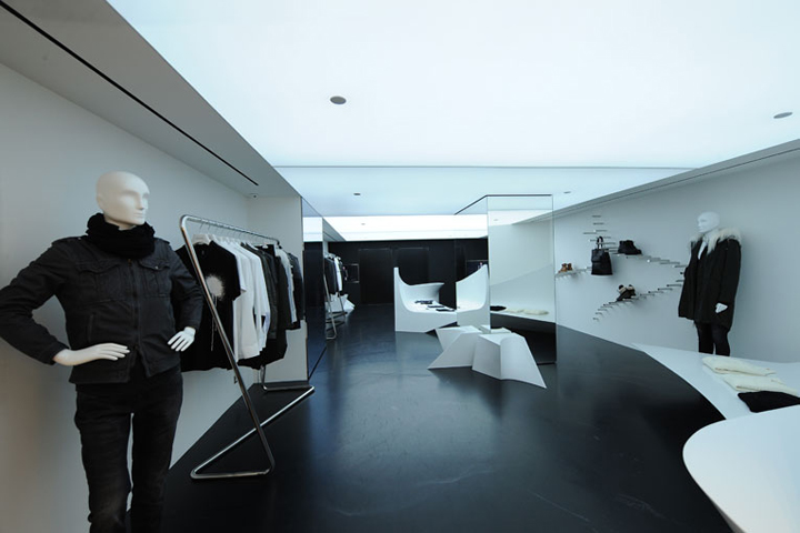 Neil Barrett Store By Zaha Hadid Hong Kong Retail