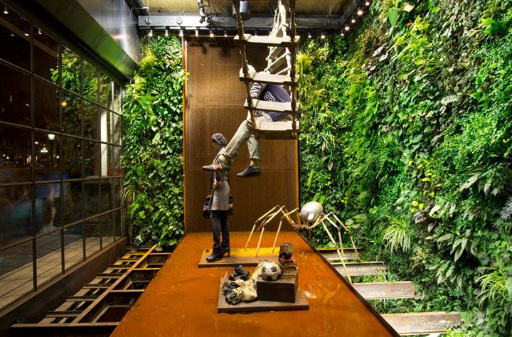 Replay Store by Vertical Garden Design, Barcelona » Retail Design Blog