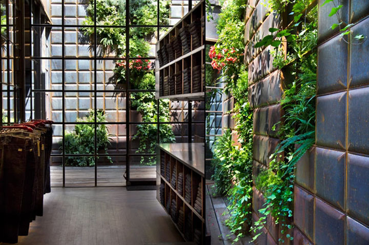 Replay Store By Vertical Garden Design Barcelona 187 Retail