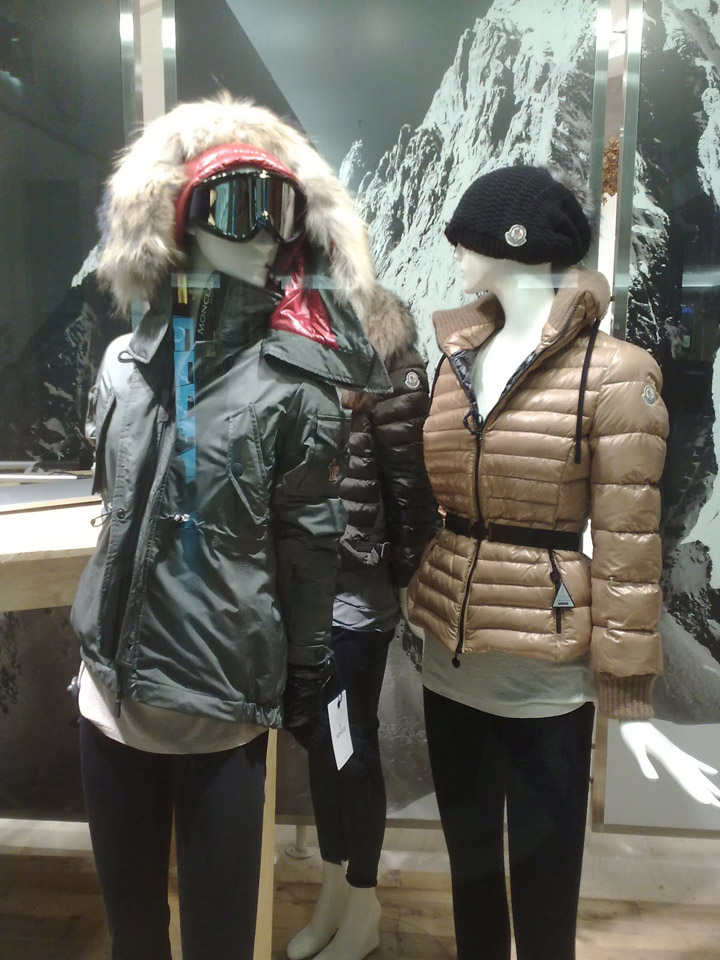 » Moncler window display at Jade, Indonesia