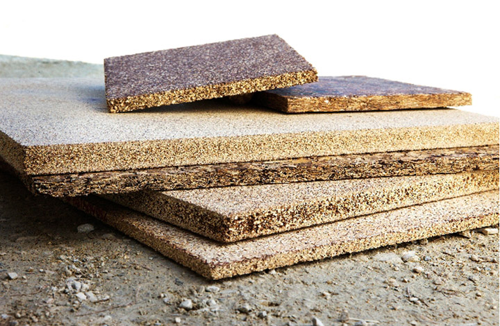 Affordable building materials from recycled agricultural for Reclaimed house materials