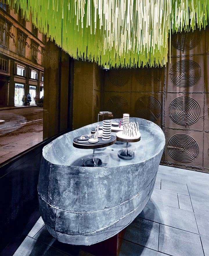 Dodo Boutique jewelry Paola Navone Florence 04 Dodo Boutique jewelry store by Paola Navone, Florence